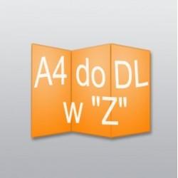 """ulotki A4 do DL w """"Z"""" 10 000 szt."""
