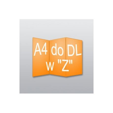 """ulotki A4 do DL w """"Z"""" -5000 szt."""