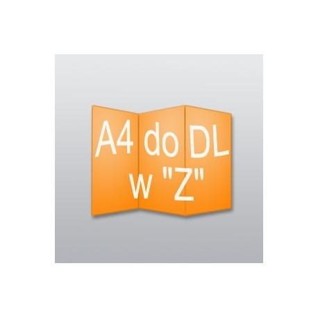 """ulotki A4 do DL w """"Z"""" -2500 szt."""