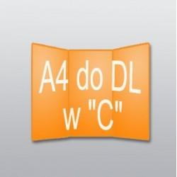 """ulotki A4 do DL w """"C"""" -5000 szt."""