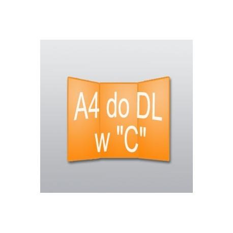 """ulotki A4 do DL w """"C"""" -2500 szt."""