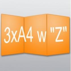 """ulotki 3xA4 w """"Z"""" -500 szt."""