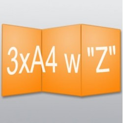 """ulotki 3xA4 w """"Z"""" -250 szt."""