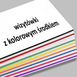 wizytówki z kolorowym środkiem -500 szt.