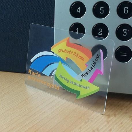karty przezroczyste -0,5mm-480 szt.