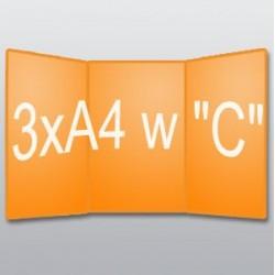 """ulotki 3xA4 w """"C"""" -250 szt."""