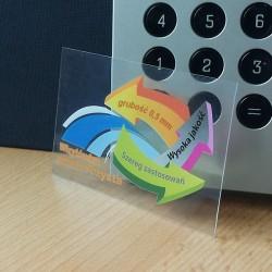 karty przezroczyste -0,5mm