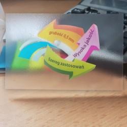 wizytówki półprzezroczyste 0,5mm- 250 szt.