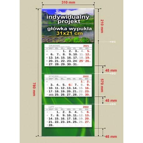 kalendarze trójdzielne -lux II -300 szt.