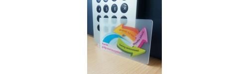 karty przezroczyste (szronione)-0,8mm