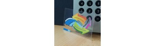wizytówki przezroczyste (całkowicie) - grubość 0,5mm
