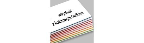 wizytówki z kolorowym środkiem