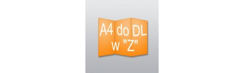 "ulotki A4 do DL w ""Z"""