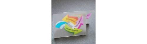 wizytówki przezroczyste (szronione) - grubość - 0,5mm
