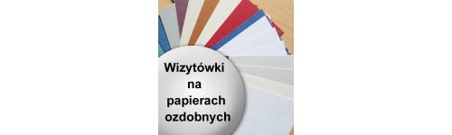 wizytówki na papierze ozdobnym