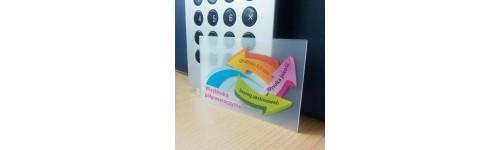 wizytówki przezroczyste (szronione) - grubość - 0,8mm