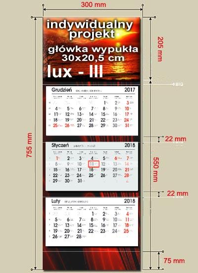 kalendarze trójdzielne lux III